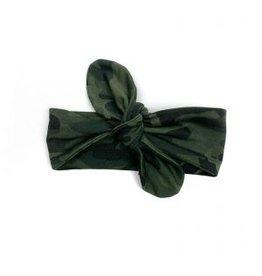 KMDB KMDB Hairband Knot Camo Green