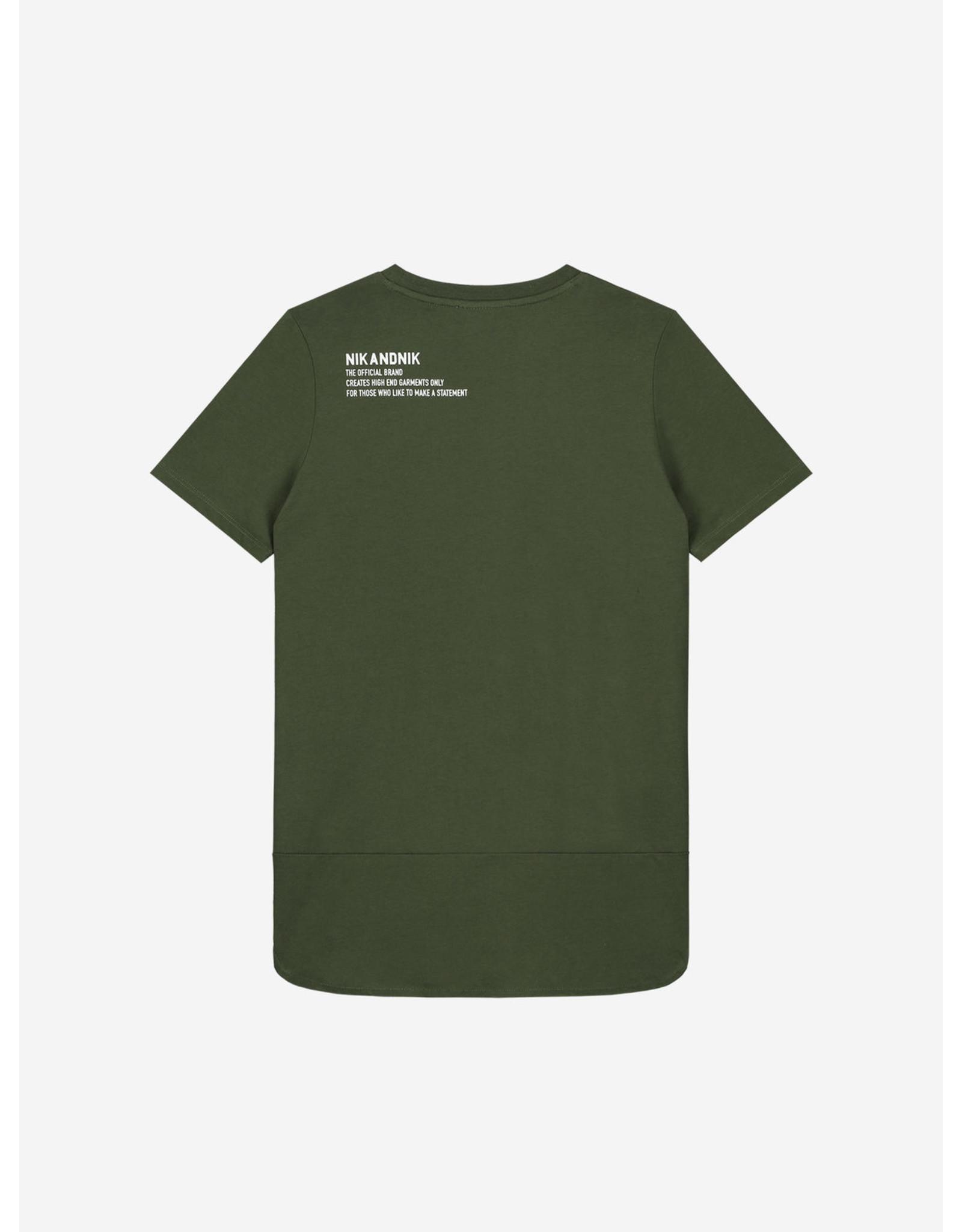 Nik&Nik NIK&NIK Unique T-shirt Dark Moss Green
