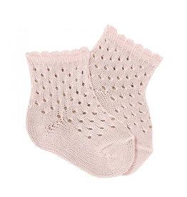 Condor Condor Openwork Perle Ankle Socks W/fancy Cuff