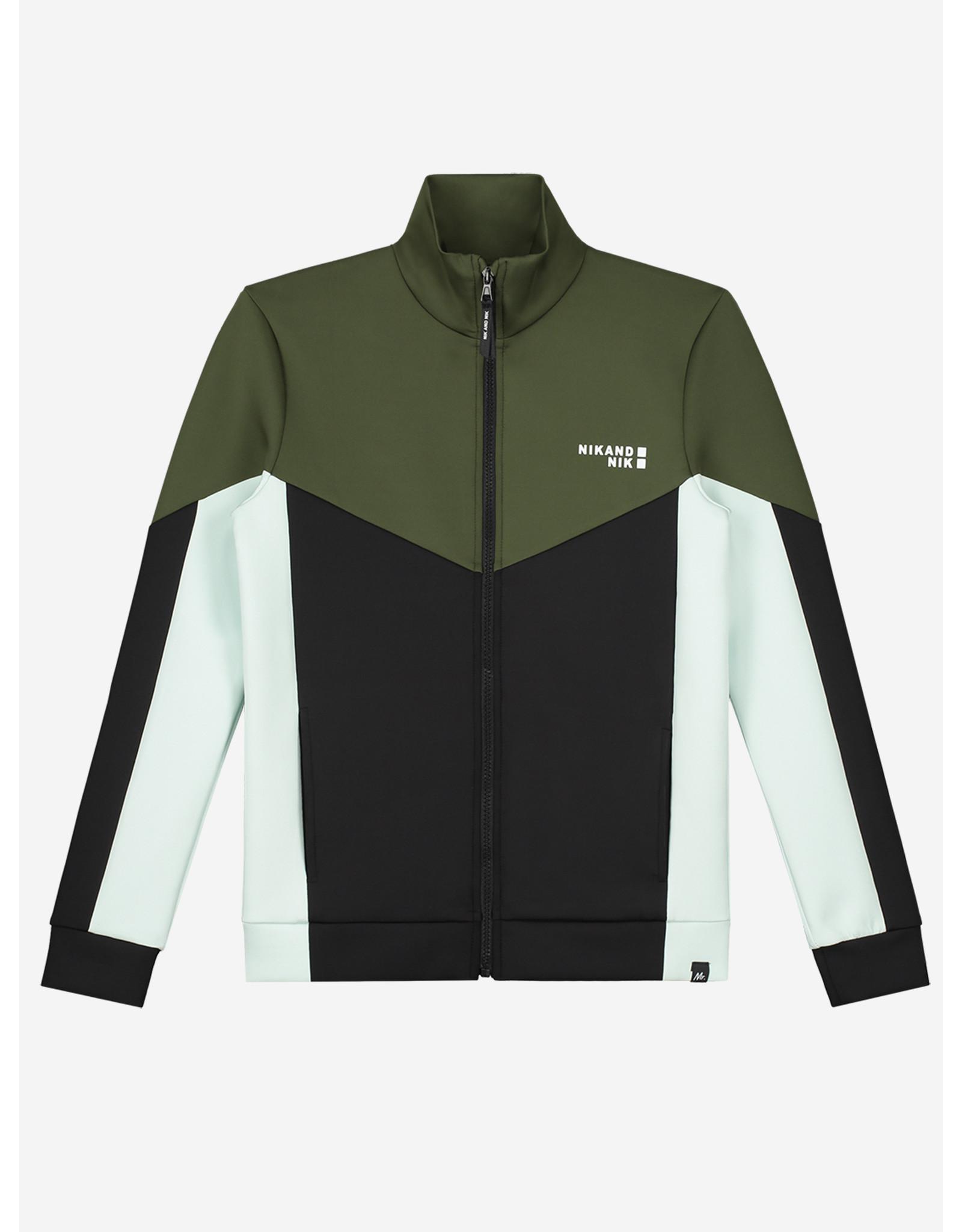 Nik&Nik NIK&NIK Mayron Track Jacket DARK MOSS GREEN
