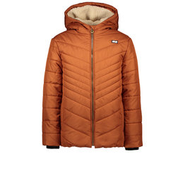 Like Flo Like Flo Boys Long Hooded Jacket COGNAC