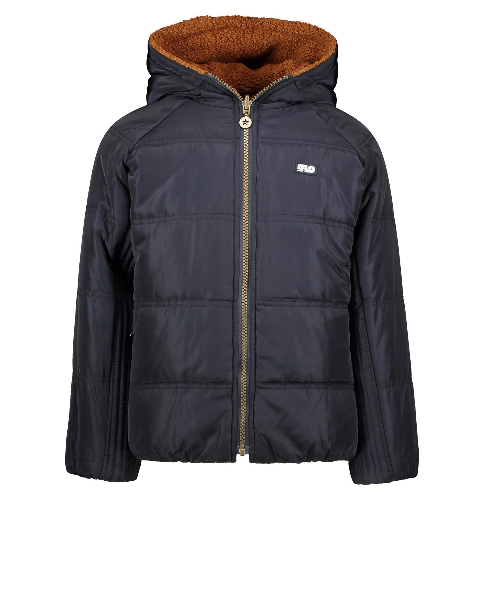 Like Flo Like Flo Boys Reversible Hooded Jacket NAVY