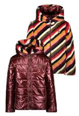 Like Flo Like Flo Girls Reversible Hooded Jacket STRIPE