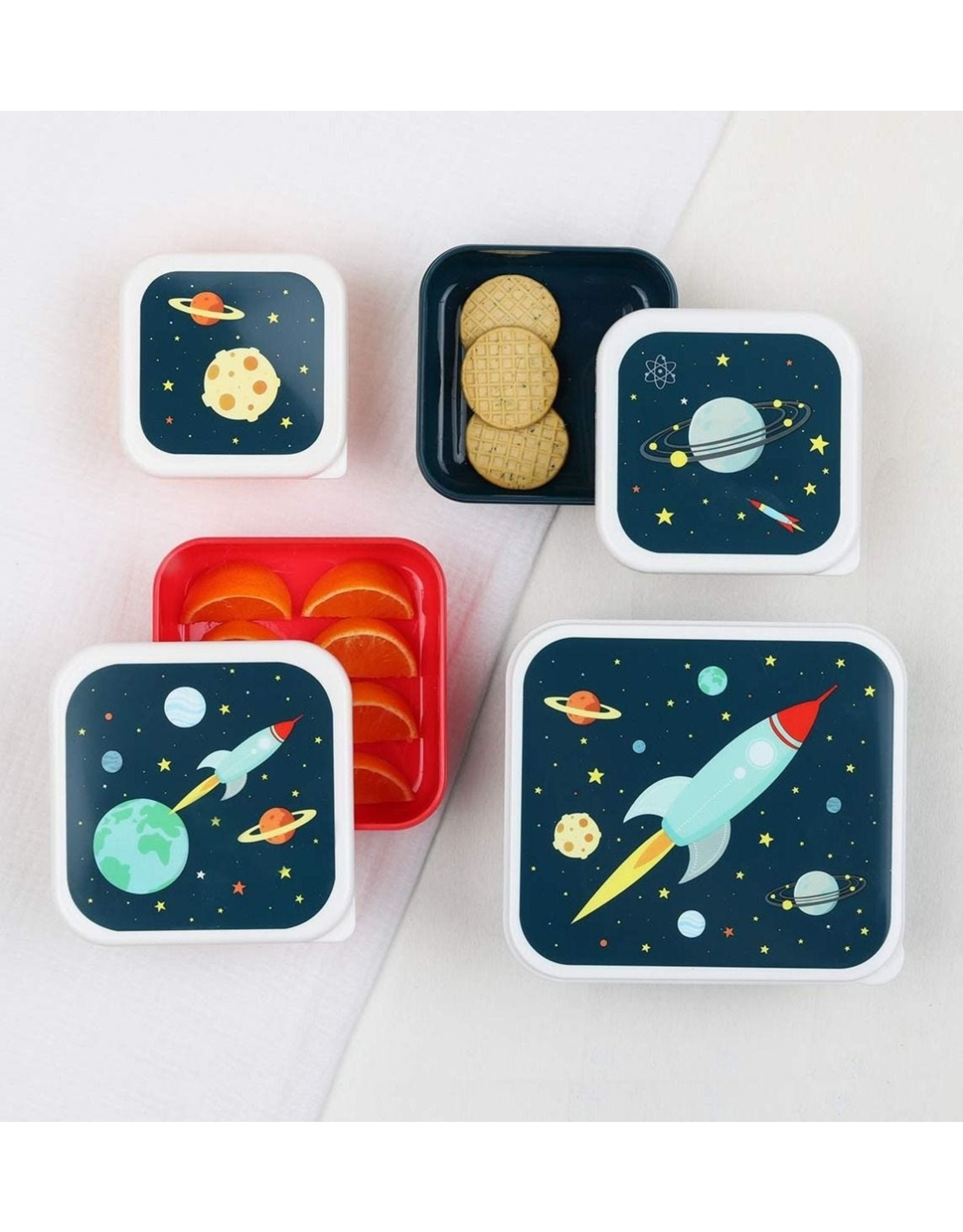 A little lovely company A Little Lovely Company Lunch & Snack box Set Space