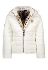 Like Flo Like Flo Girls Short Hooded Jacket-White