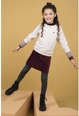 Like Flo Girls Rib LS Turtle Neck-Aubergine