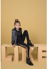 Like Flo Like Flo Girls Interlock High Rise-Metallic