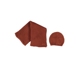 NoBell NoBell Raya Knitted hat+ scarf set Leather Brown