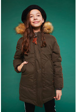 NoBell NoBell Body long parka with detachable fur Army Green