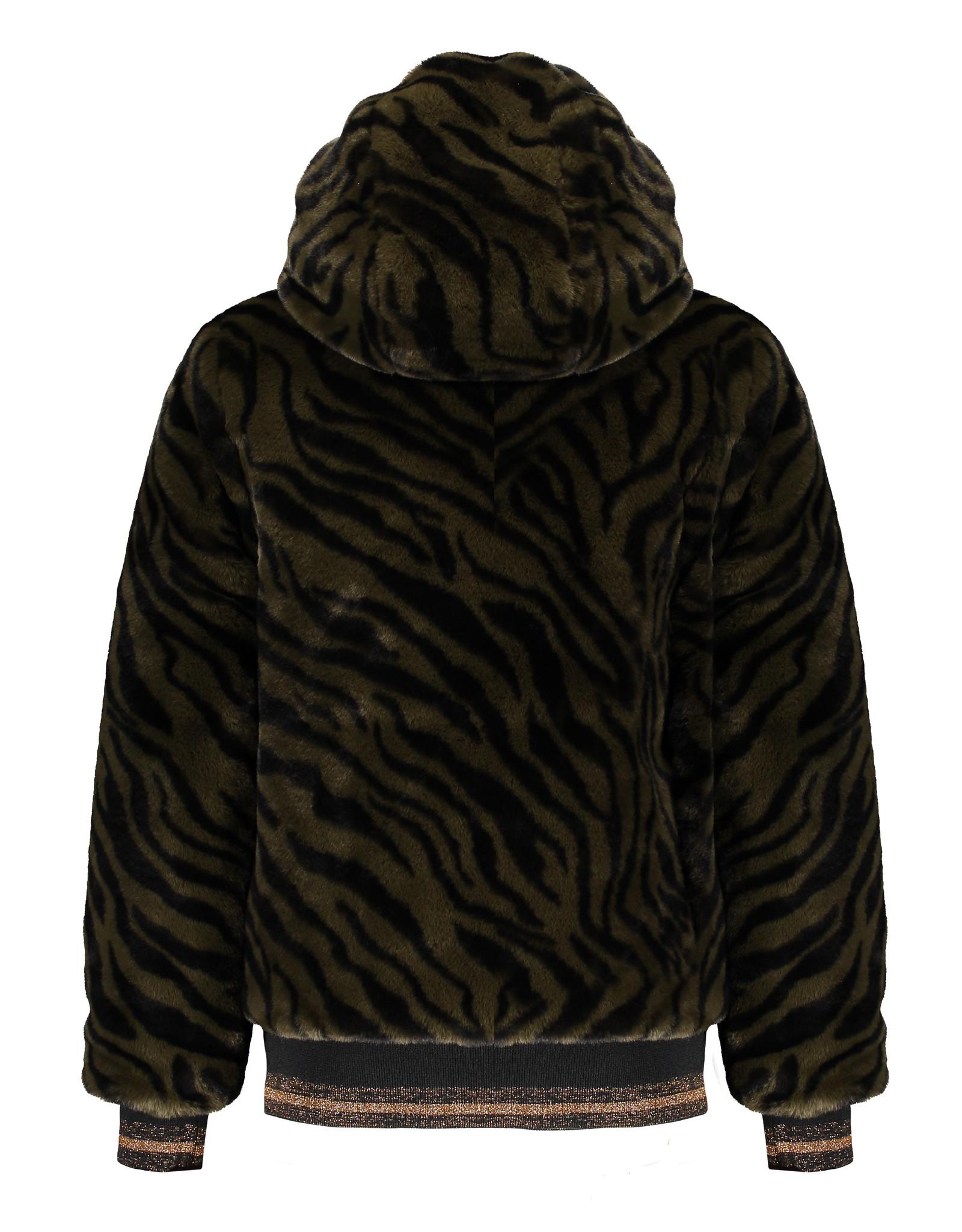 NoBell NoBell Bazz B Zebra furry reversible Army Green