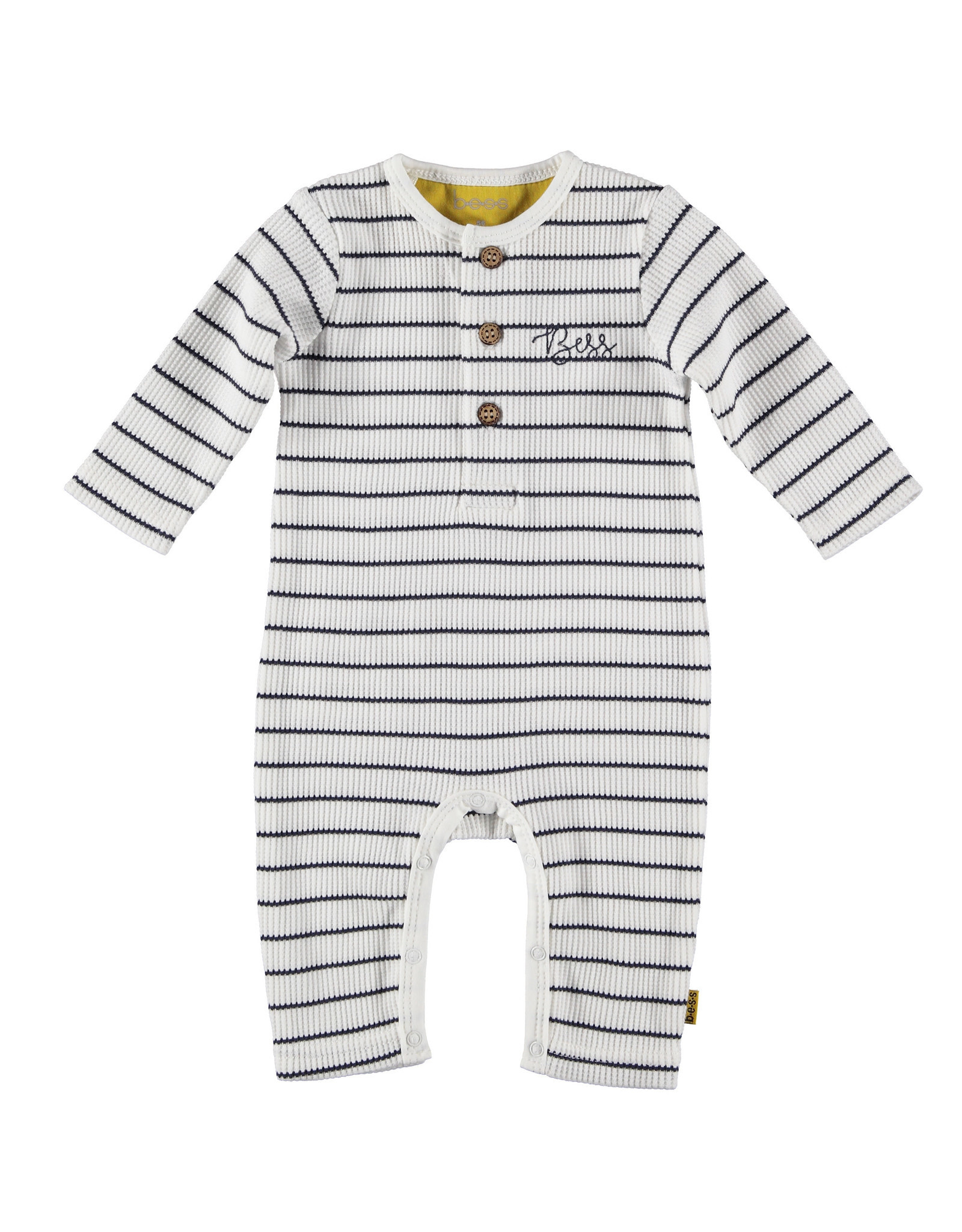 BESS BESS Suit Henley Striped White