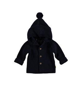 BESS BESS Cardigan Knitted Hood Navy