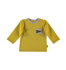 BESS BESS Shirt LS Pocket Ocre