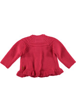 BESS BESS Cardigan Knitted Ruffle Coral