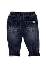 BESS BESS Pants Denim Striped Stone Wash