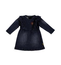 BESS BESS Dress Denim Striped Stone Wash