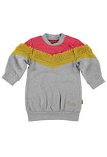 BESS BESS Sweatdress Colorblock Grey
