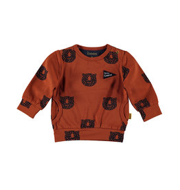 BESS BESS Sweater AOP Tiger Rusty