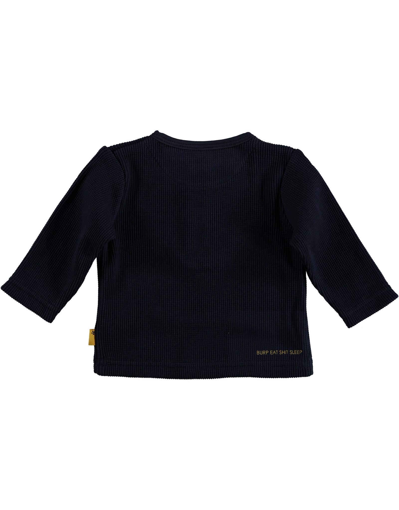 BESS BESS Shirt LS Waffle Navy