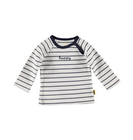 BESS BESS Shirt LS Striped Happy White