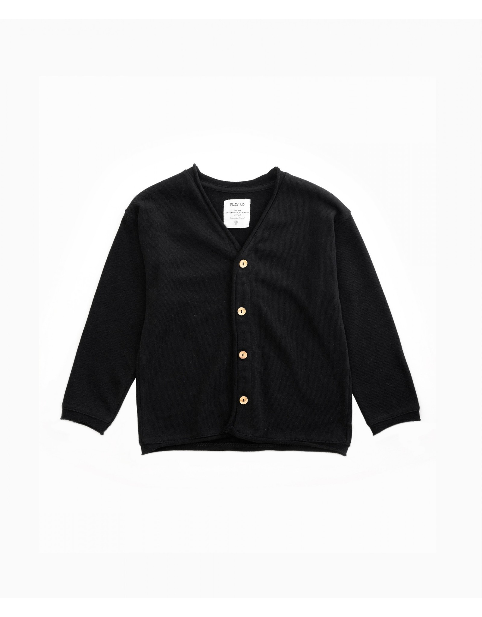 Play Up Play Up Cardigan Jersey with Wooden Buttons Ruler