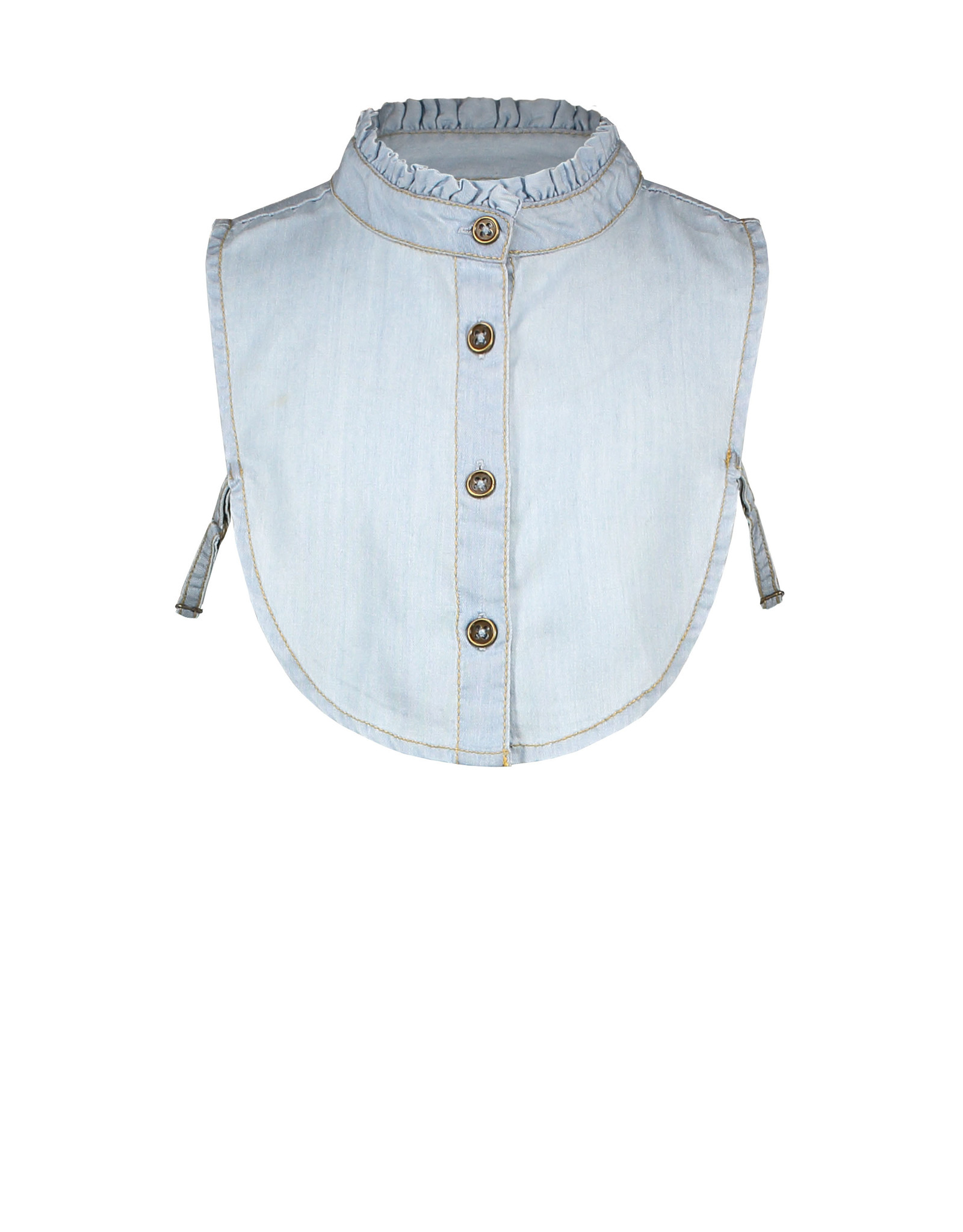 Like Flo Like Flo Girls Ruffle Collar LIGHT DENIM