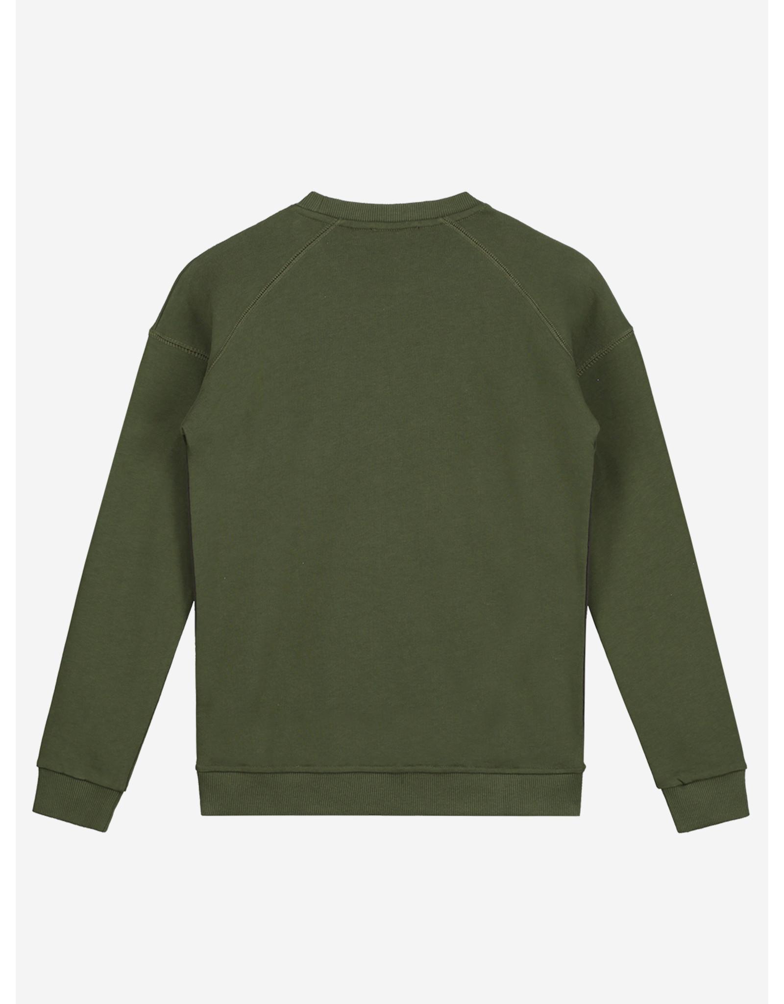 Nik&Nik Nik&Nik Monzo Sweater Dark Moss Green