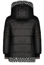 NONO NONO Bria Reversible Long Jacket Zigzag  Jet Black