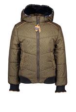 NONO NONO Hooded Jacket AOP Pebblestone Army Green