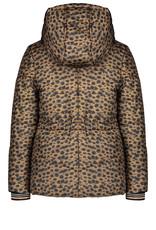 NONO NONO Briana Hooded Half Long Jacket AOP Cheeta