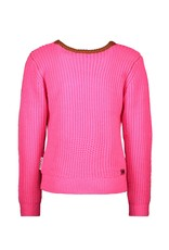 B.Nosy B.Nosy Girls Heavy Knitted Pullover With Lurex Pink Glo