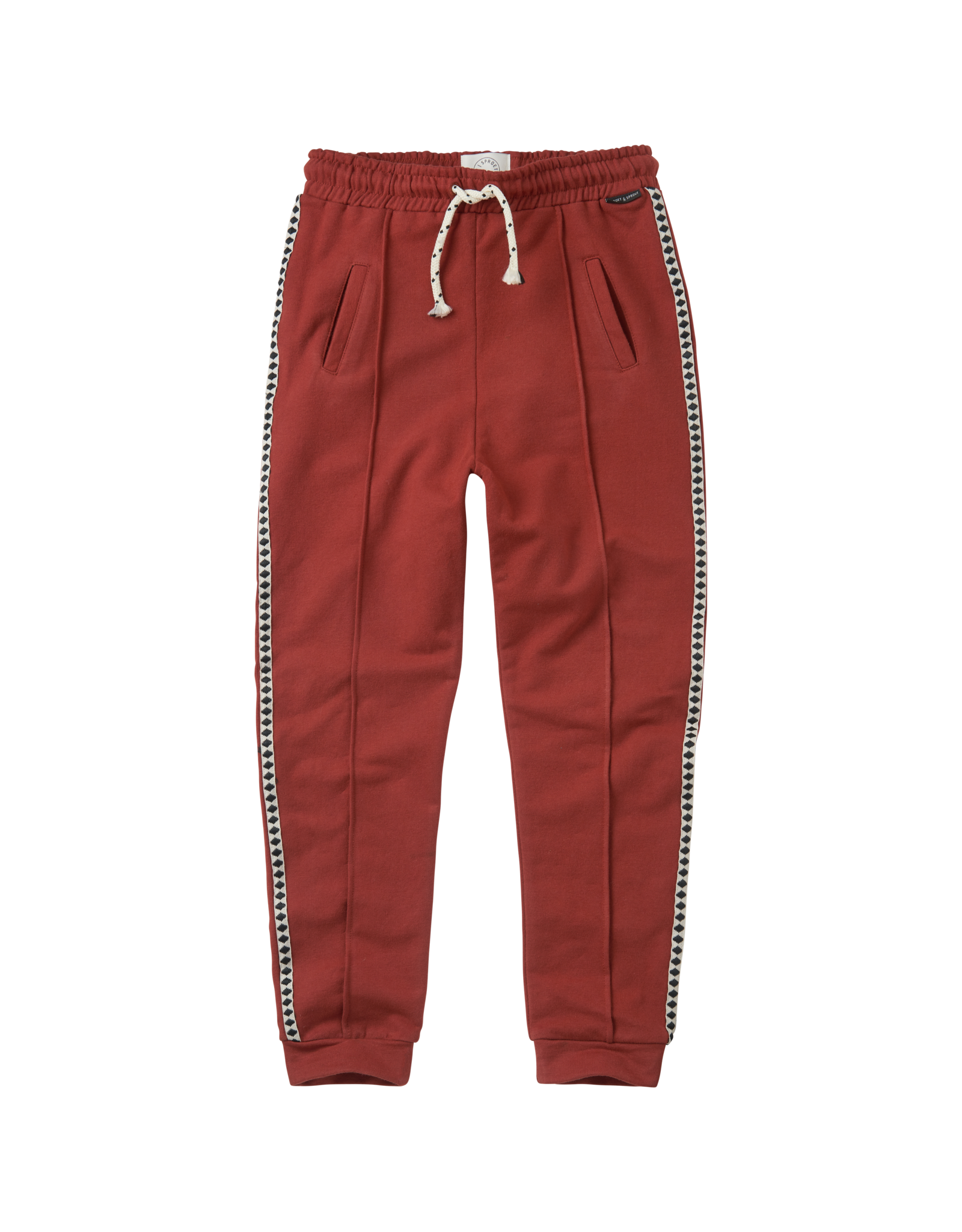 Sproet & Sprout Sproet & Sprout Trackpants-Beet Maroon