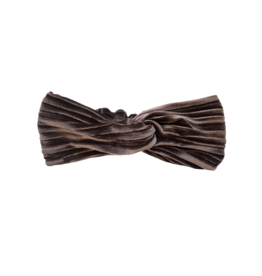 Sproet & Sprout Sproet & Sprout Turban Headband Velvet Pleat-Chocola