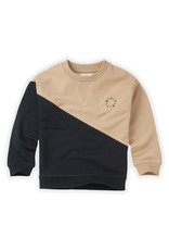 Sproet & Sprout Sproet & Sprout Sweatshirt Colourblock-Black/Nougat