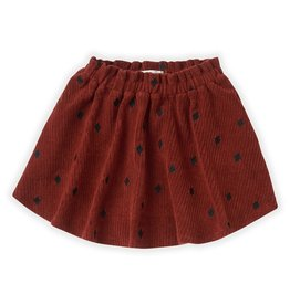 Sproet & Sprout Sproet & Sprout Skirt Terry Rib Beet Maroon