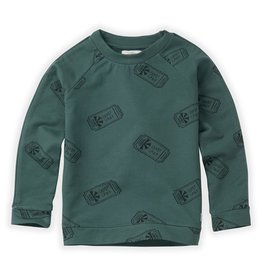 Sproet & Sprout Sproet & Sprout Sweatshirt Raglan Ticket AOP Dusty Green