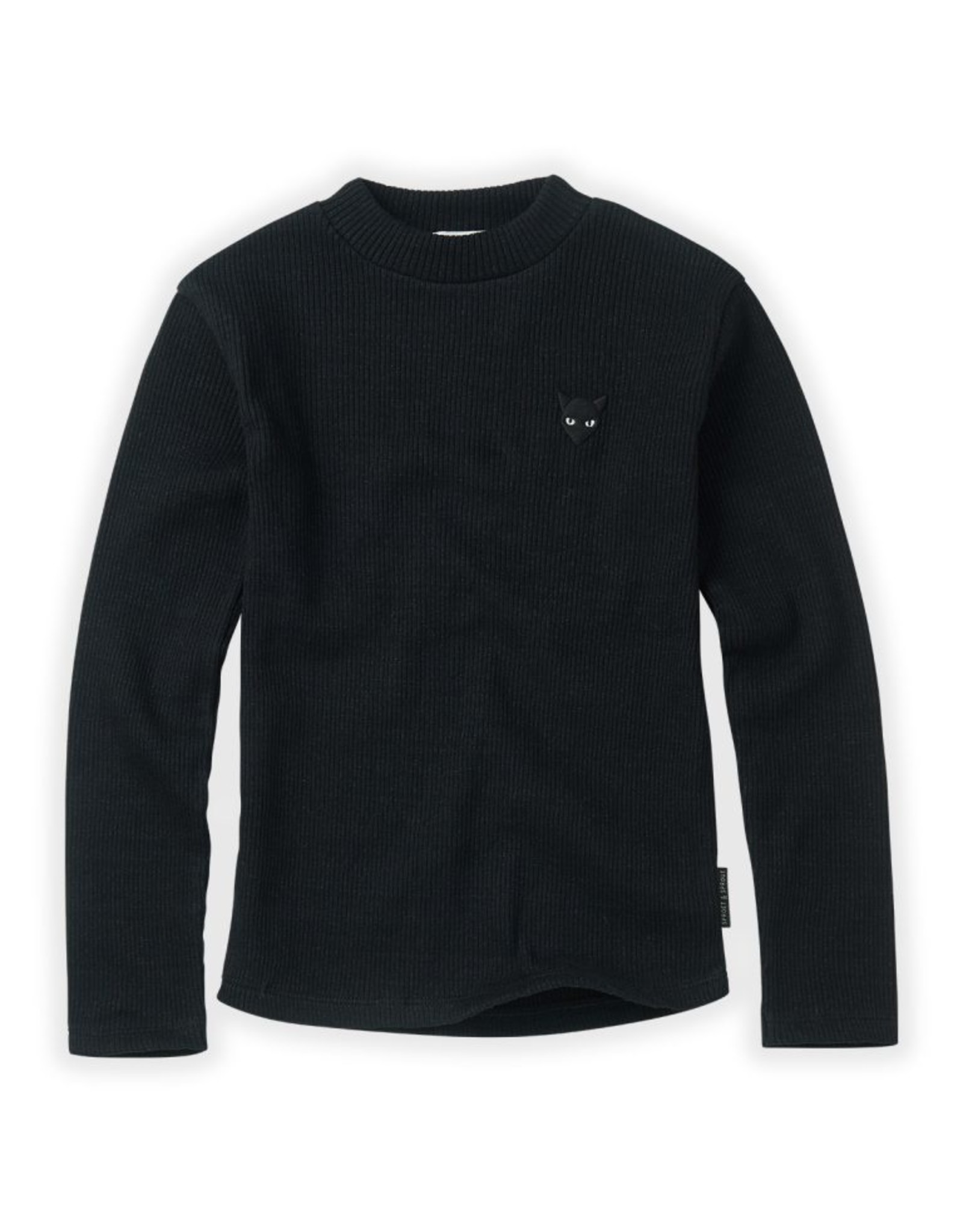 Sproet & Sprout Sproet & Sprout Turtle Neck Rib Black BASIC
