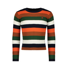 NONO NONO Kiu T-shirt Multicolor Stripe Chili
