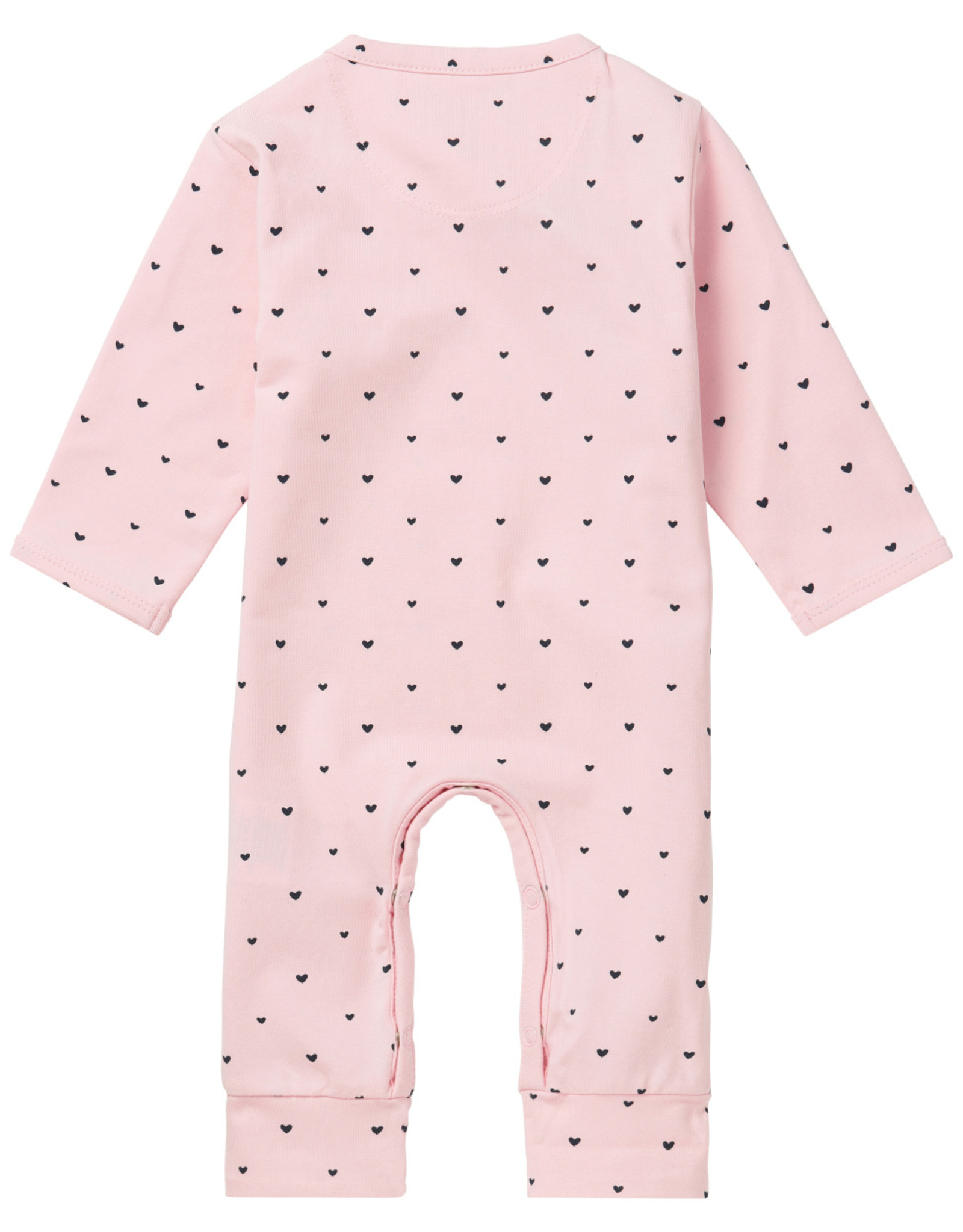 Noppies Noppies G Playsuit jrsy longleeve Nemi LIGHT ROSE maat 44