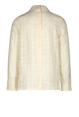 Like Flo Like Flo Girls Woven Blouse with Turtle Neck Off White