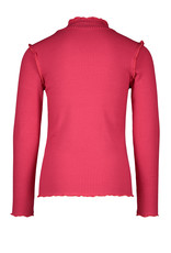 Like Flo Like Flo Girls Rib LS Turtle Neck Fuchsia