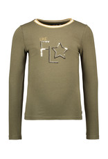 Like Flo Like Flo Girls Jersey LS Tee Rib Army