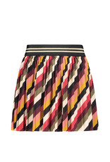 Like Flo Like Flo Girls Stripe Velvet Plisse Skirt Stripe