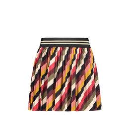 Like Flo Like Flo Girls Stripe Velvet Plisse Skirt Stripe