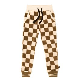 CarlijnQ CarlijnQ Checkers Sweatpants with cuffs