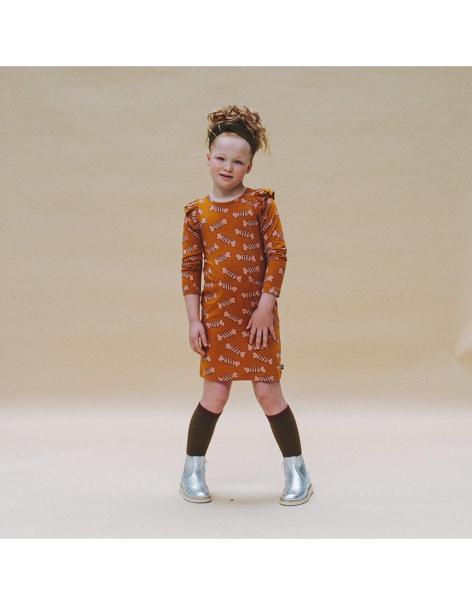 CarlijnQ CarlijnQ Candy Blouson Dress with ruffles