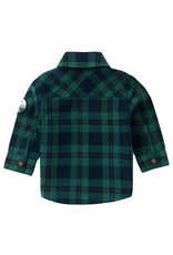 Noppies Noppies B Shirt LS Klipplaat Check Farm Green