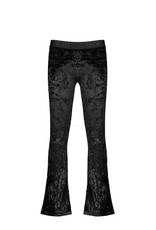 NoBell NoBell Saya Crushed Velvet Flared Pants