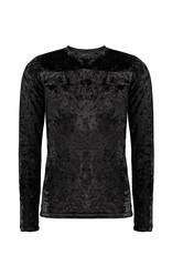 NoBell NoBell Kimo Velvet t-shirt turtle neck JET BLACK