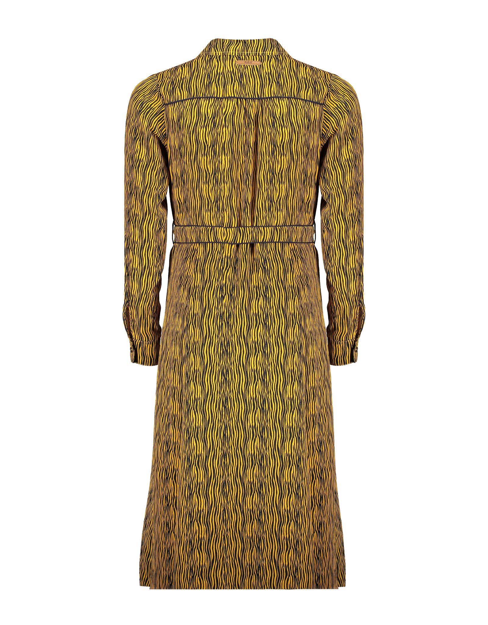 NoBell NoBell Mulia maxi zebra all over print DRESS YELLOW GOLD